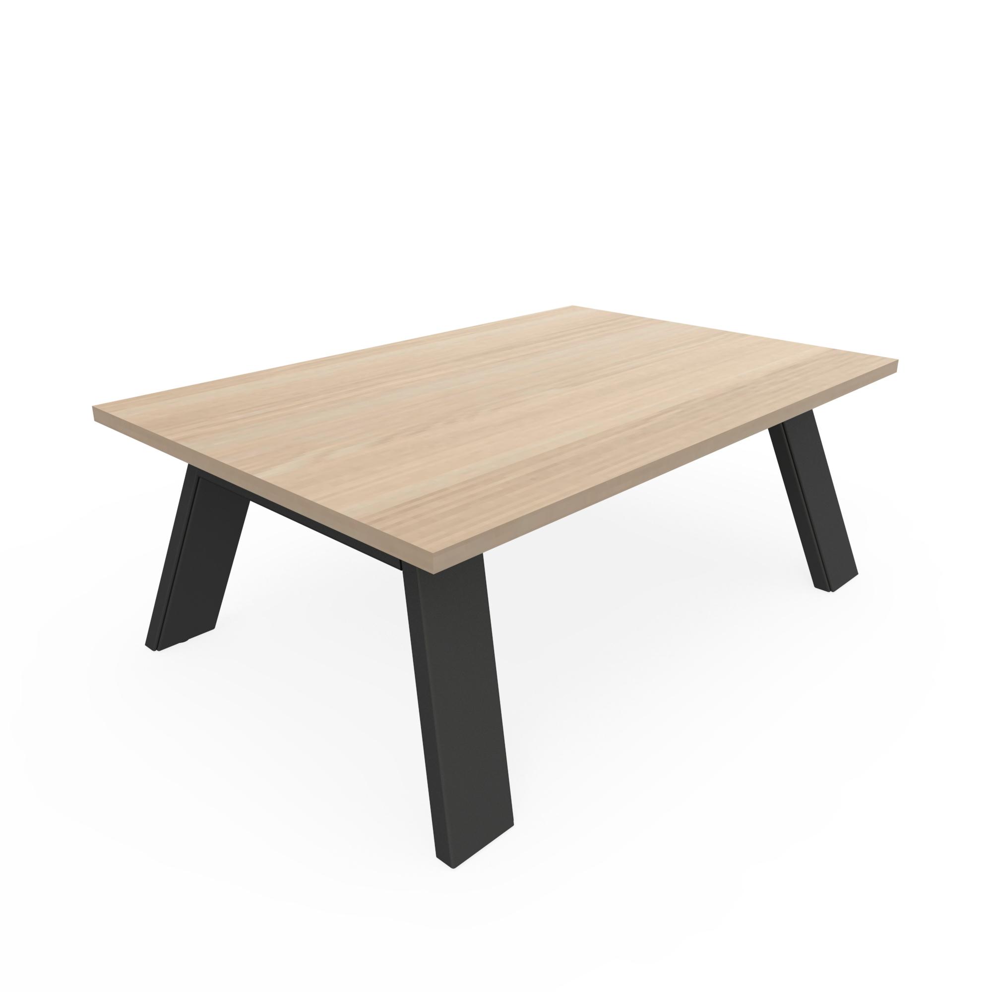 Fluoro Coffee Table Square In Matt White With Black Metal: Treto Coffee Tables
